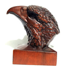 Hand Carved Boxwood Netsuke 2-inch Eagle Head Set DIY Pendant Necklace