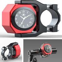 Motorrad Lenker Wasserdicht Elektronische Leuchtende Temperatur Zeit Watch Clock