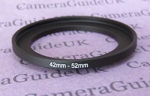 42mm to 52mm Male-Female Stepping Step Up Filter Ring Adapter 42mm-52mm
