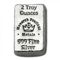 "Hand Poured MPM Mint ""Little Chunky"" 2 oz .999 Fine Silver USA Made Bullion Bar"