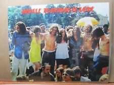 Vintage 1970 Woodstock Poster People Together is LOVE  inv#G2636
