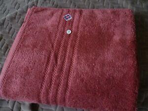 "Bath Sheet Towel 55"" x 36 ""Deep Pink Factory Second Made in England"