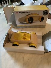 Automoblox Minis Wood Car by Calello C9 Sportscar Yellow (Orig. Box) Convertible