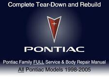 Pontiac Family 1998-2005 Custom FULL Service Repair Workshop Manual DvD Software