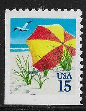 US Scott #2443, Single 1990 Beach Umbrella 15c FVF MNH