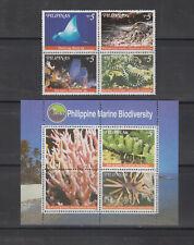 Philippine Stamps 1999 Marine Biodiversity set & ss complete MNH