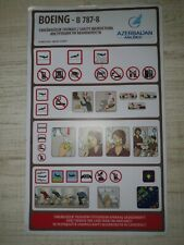 Safety Cards Azerbaijan Airlines Air B 787-8