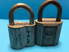 Old Vtg Collectible Mixed Pair Of Yale Padlocks With Keys Made IN USA