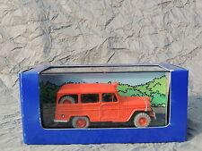 Voiture TINTIN Atlas réf. 057. L'Affaire Tournesol. La jeep des pompiers.