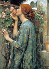 QUALITY CANVAS ART PRINT * JOHN WATERHOUSE * My Sweet Rose