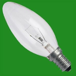 10x 40W Clear Candle Dimmable Filament Light Bulbs, E14, SES, Small Screw Lamps
