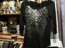 Black silver ladies top by Madison & Berkeley Size small