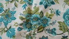 """Waverly Fabric Floral Teal Blue 53""""x46"""""""