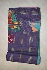 Indian Vintage Patchwork Kantha Quilt Handmade Gudri Reversible Rali Throw Decor