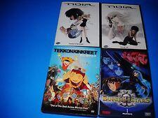 4X LOT DVD ANIME Tekkon Kinkreet,NOIR HIT LIST,SHADES DARKNESS,BANNER OF STARS