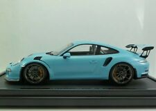 New Rare 1/12 Spark Porsche 911(991) GT3 RS Light Blue 200pcs 911 1/18