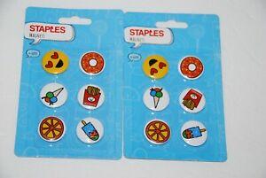 Magnet Fridge Refrigerator 12 Magnets Locker White Board Staples Fries Donut NEW
