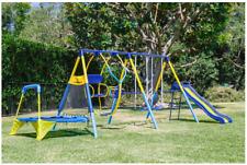 Toddler Swing Set Swing-N-Slide Playsets Small Trampoline Heavy Duty Double Dual