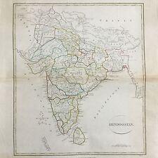 Carte Map India 1808 Hindoostan 19thC Longman & Co