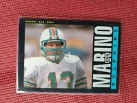 1985 Topps #314 Dan Marino Miami Dolphins Graded Football Card NFL HOF PSA MINT