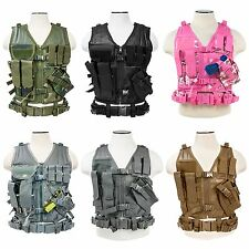 NcSTAR VISM Cross Draw Tactical Hunting Military Vest MOLLE CTV2916 XS-2XL