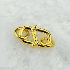 1Pcs Pure 999 24K Yellow Gold Pendant Perfect S Shape &Circle Clasp For Bracelet