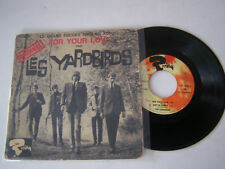 EP 4 TITRES VINYLE 45 T , THE YARDBIRDS , FOR YOUR LOVE . G +/ VG .