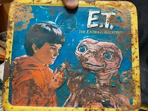 1982 E.T. - EXTRA TERRESTIAL MOVIE LUNCHBOX WITH THERMOS