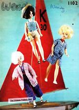 SINDY / BARBIE crochet set - COPY doll crochet pattern