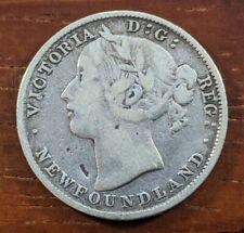 1896 Newfoundland Canada 20 Cent Silver Foreign Canadian Coin Lot E19