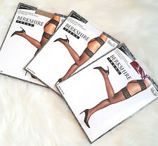 BERKSHIRE LaceTop THIGH HIGHS w LACE WAIST & GARTERS  A/B - Q-2 NUDE WHITE & RED