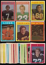 1972 O-Pee-Chee CFL Football -Near Complete Set (131) -THEISMANN, MOSCA, etc.