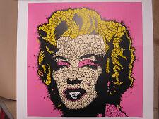 Inclinación Marilyn Monroe Original Firmado impresión Ltd Edition 45 Pow Banksy estable