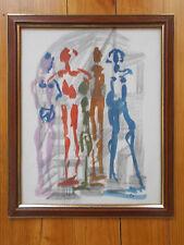 Crayon & Gouache , Oeuvre de Robert Calix , Signée