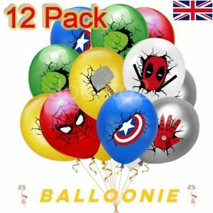Marvel Avengers Balloons Spiderman Batman Iron Man Hulk Balloon Superhero Hero