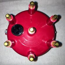 JEEP CHEROKEE XJ DISTRIBUTOR CAP (RED) BRASS UPGRADE 4.0L 6 CYL - MADE IN USA