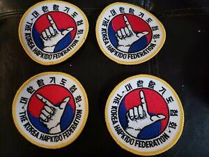 "Lot of  4 THE KOREA HAPKIDO FEDERATION 4"" PATCH"
