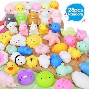 28PCS Mochi Squishy Toys Party Favors for Kids Mini Squishy Kawaii Animal New