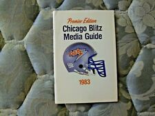 1983 CHICAGO BLITZ MEDIA GUIDE Yearbook GEORGE ALLEN Program USFL Football AD