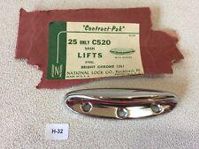 H-32 Sash Lift  Industrial Polished Chrome NOS Vintage Drawer Pull National