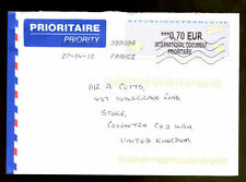 France 2010 Airmail Cover To UK #C1366