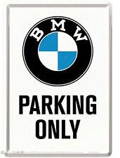 Nostalgic Art Blechpostkarte BMW Parking Only - Logo Emblem nur BMW Parken #