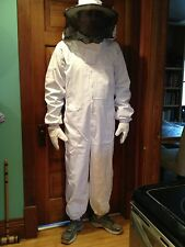 Heavy Duty Full Beekeeping Suit, NEW! size L Free gloves! Free shipping!