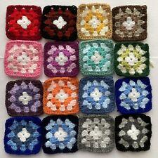 "(Random Mix 1) 16 x Traditional Crochet Granny Squares 3"" x 3"" approximately"