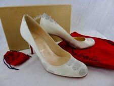 Christian Louboutin watersnake black white heels new with box 85 37.5 uk 4.5