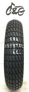 Timsun     110/70-17 54h     Part Worn Tube Type Motorcycle Tyre 586
