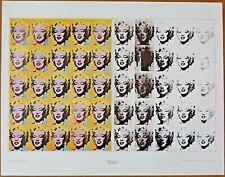 Andy Warhol  Marylin Monroe   Vintage Original 1960 1st Print Ltd Ed Lithograph