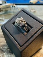 Sterling Silver and Marcasite Ring Size 7 CAT Ring, Stunning