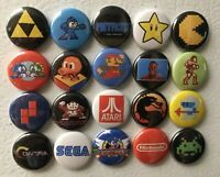 Retro Game REFRIGERATOR MAGNET Set, Lot of 20 Nintendo Sega Mario Zelda Atari