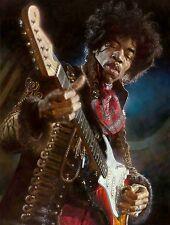 Jimi Hendrix Guitar Art Rare 8.5x11 Portrait Photo